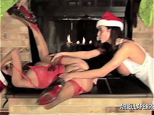Things gets torrid on Christmas with Ariella Ferrera