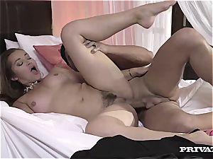 lush backside cougar Danni Daniels Cleans the spunk off a pipe