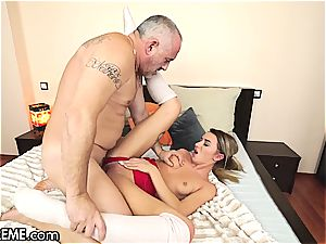 Ballerina Anna Thorne gets a dosage of the grandfather fuck-stick