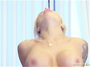 strict big-titted chief Nina Elle exploits its workers during a date