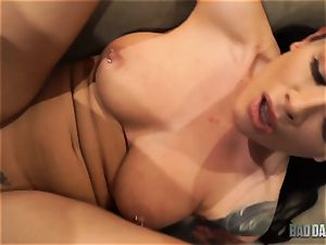 cum craving Katrina Jade bashed in her tight cooch by stepdad