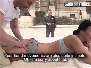 astounding Vicky enjoy ravages the masseur
