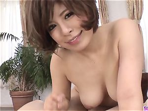nude milf Ririsu Ayaka faceholes meatpipe in sexy sequence