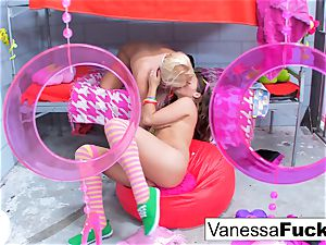 Vanessa and Natasha girl-on-girl jail