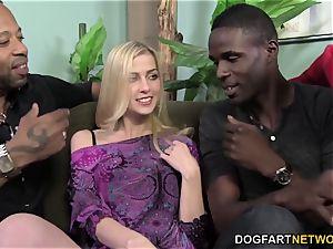 Abigaile Johnson Gets gangbanged by ebony pricks
