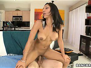 Latina cutie Sophia Diaz riding rod